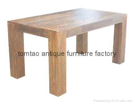 Reclaimed Wood Dining Table Home Use #6133