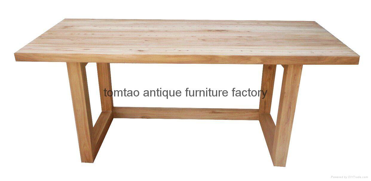 reclaimed old elm wood office desk