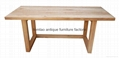 Hot Sale Solid Elm Wood Dining Room Table #6099