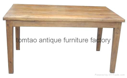Reclaimed Elm Wood Dining Table Wholesale #6088 1