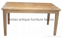 Reclaimed Elm Wood Dining Table Wholesale #6088