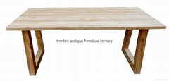 Solid Wood Dining Table Restaurant Furniture #6055