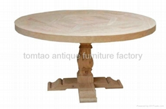 Raw Elm Wood Round Dining Table Wholesale #6688