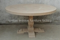 Elm Wood Round Dining Table Wholesale #6688 2