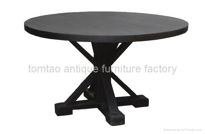 Elm Wood Round Table  #6633