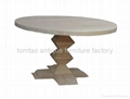 Round Solid Wood Table Restaurant Furniture #6622