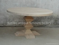 Round Solid Wood Table Restaurant Furniture #6622 2
