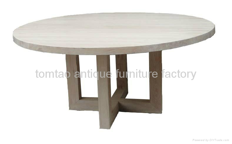 Heavy-duty Round Dining Table Home Furniture #6599