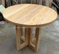 Rustic Round Wood Dining Table Wholesale #6588