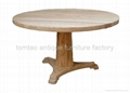 One Leg Round Wooden Dining Table