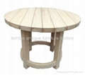 European Style Solid Wood Round DiningTable #6522