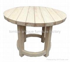 老榆木家具,老榆木圆台,实木圆台