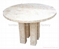 Raw Elm Round Dining Table Home Furniture#6511