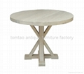 Reclaimed Solid Wood Round Table Wholesale #6506