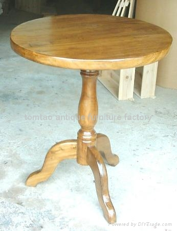 elm wood Round Dining Table #6505 2
