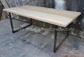 Wood top iron base Dining Table #6822 2