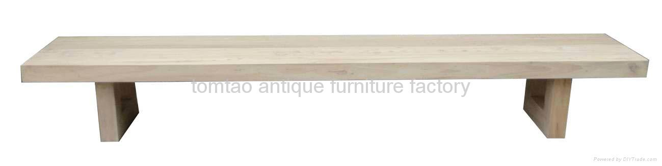 European Style Heavy-duty Wooden Bench #3599 1