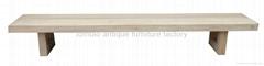 European Style Heavy-duty Wooden Bench #3599