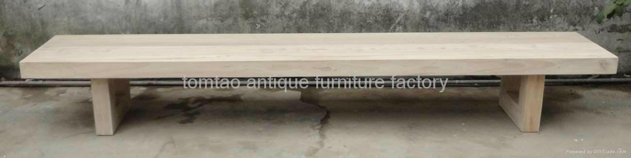 European Style Heavy-duty Wooden Bench #3599 2