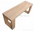 elm Wood Bench Restaurant Furniture #3533