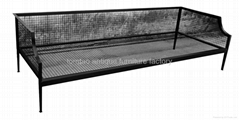 3 Seat Iron Frame Sofa Outdoor Furniture #3077