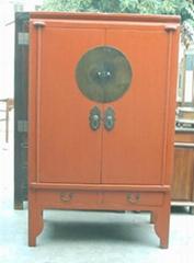 中式结婚用红漆柜