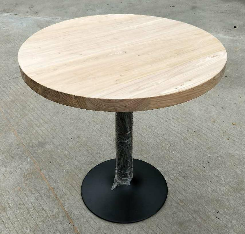 wood top iron base bar table,bar furniture 1