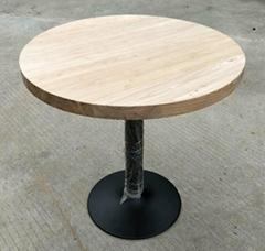 wood top iron base bar table,bar furniture