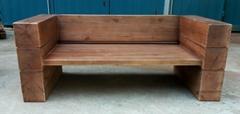 户外家具,防腐木双人沙发椅