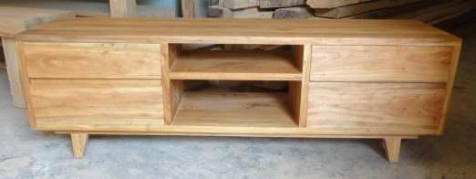 elm wood TV cabinet 4drawers 1
