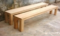 solid elm wood bench