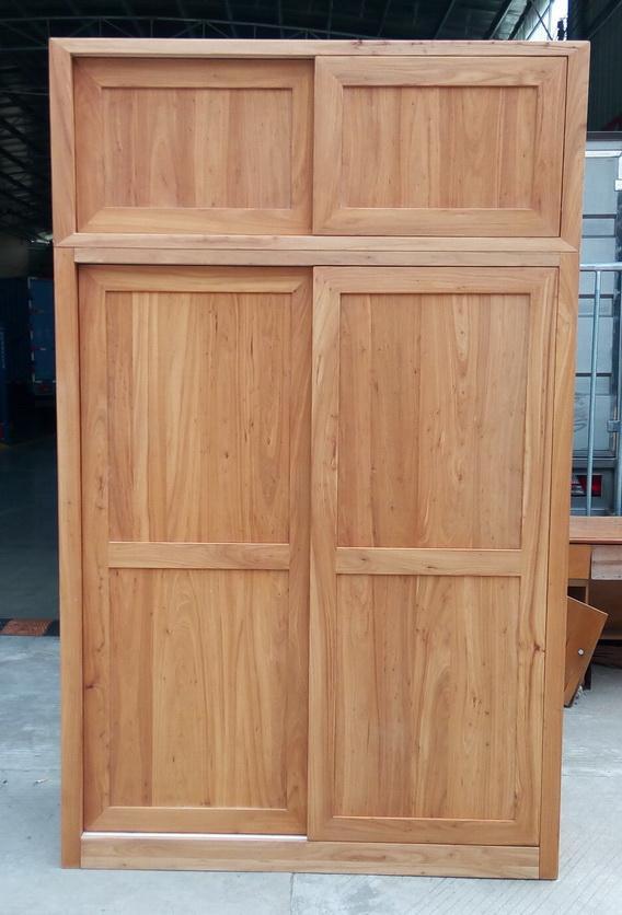 solid elm wood wardrobe