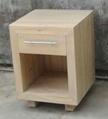 thick elmwood bedside cabinet