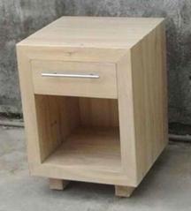榆木床頭櫃,板厚5cm