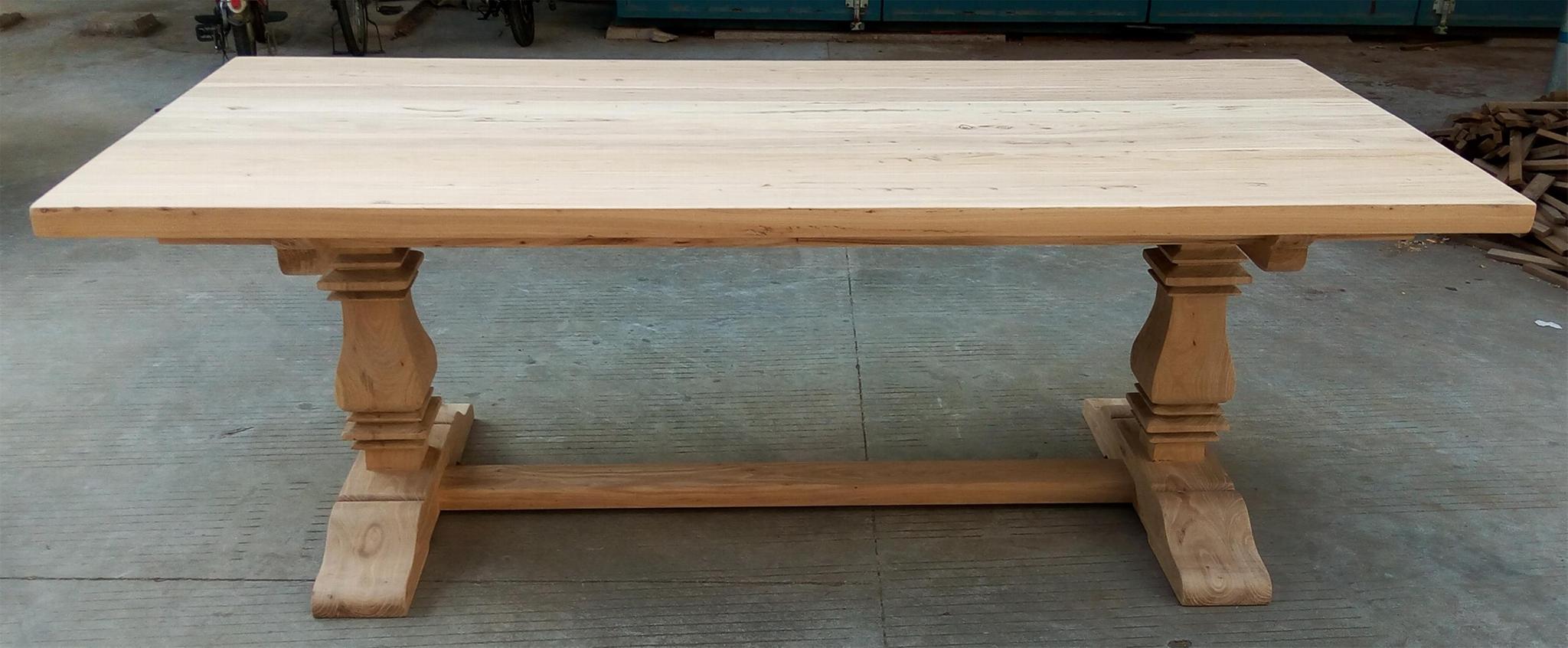 extendable elmwood dining table