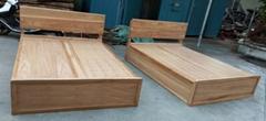 1米8榆木大床,带顶翻盖储物箱2个