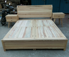 king size bed with 2 storages,elm and camphor wood