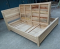 king size bed with 2 storages,elm and camphor wood 2