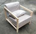 榆木沙发,麻布海绵垫,一人位 1
