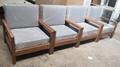 oak wood sofa,single seat,fabric cushion