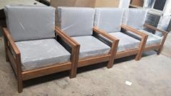 橡木沙發,一人位,布墊