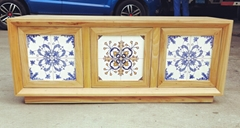 buffet with Portugese tiles on doors