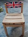 畫英國國旗圖案榆木椅,靠背36