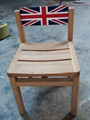 elmwood chair,back turning around with England flag design