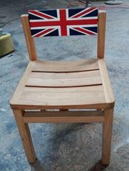 畫英國國旗圖案榆木椅,靠背360度轉動