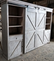 European style antique reproduction cabinets