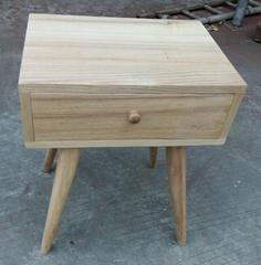 ash wood side table, 1 drawer