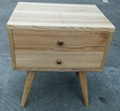 ash wood bedside table,2drawers