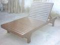 outdoor furniture,wooden lounger chair