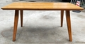 Japanese style elm wood dining table